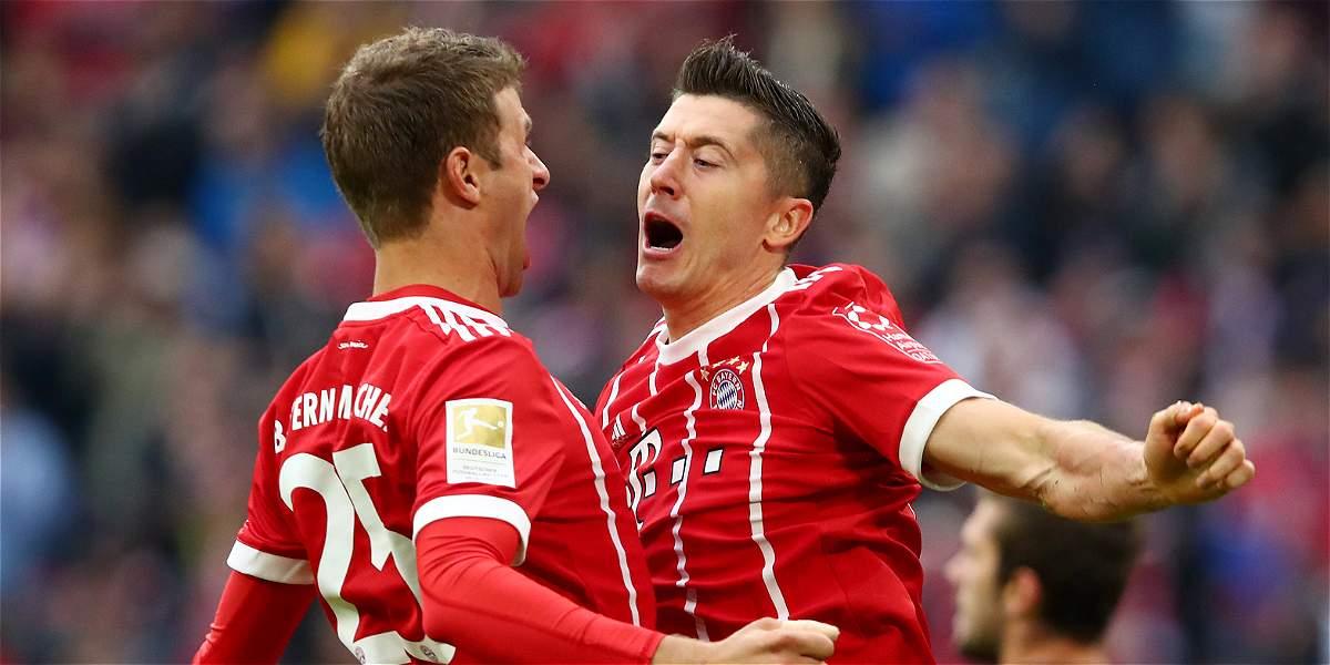 Sin James Rodríguez, Bayern Múnich superó con facilidad 4-0 al Mainz