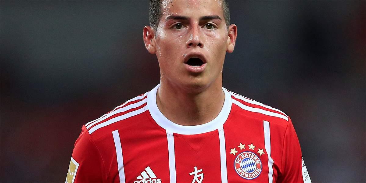 ¡James anotó su primer gol en la Bundesliga con Bayern Múnich!