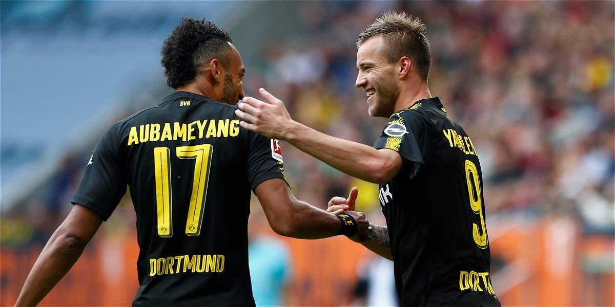 Borussia Dortmund ganó de visita y se mantiene líder: 1-2 al Augsburgo