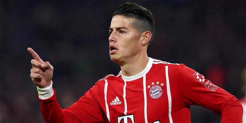Tres alegrías para James: gol, 90 minutos y puntero con Bayern Múnich