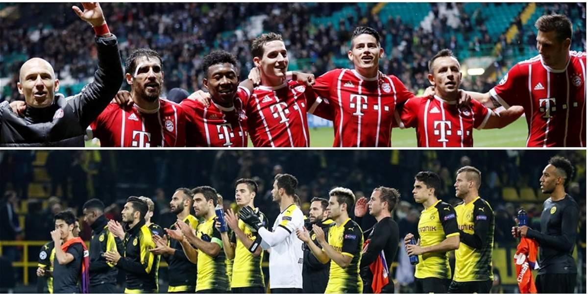 Bayern, con James, visita al Dortmund en juego de la fecha en Alemania