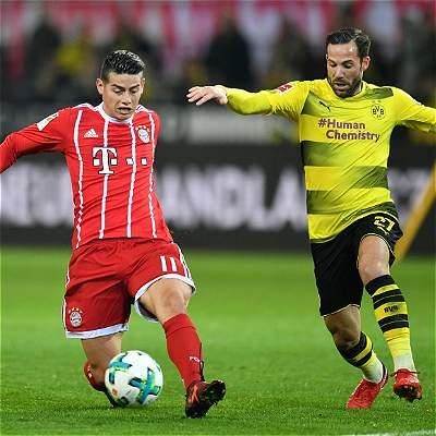 James: asistencias y gran partido en 1-3 de Bayern sobre Dortmund