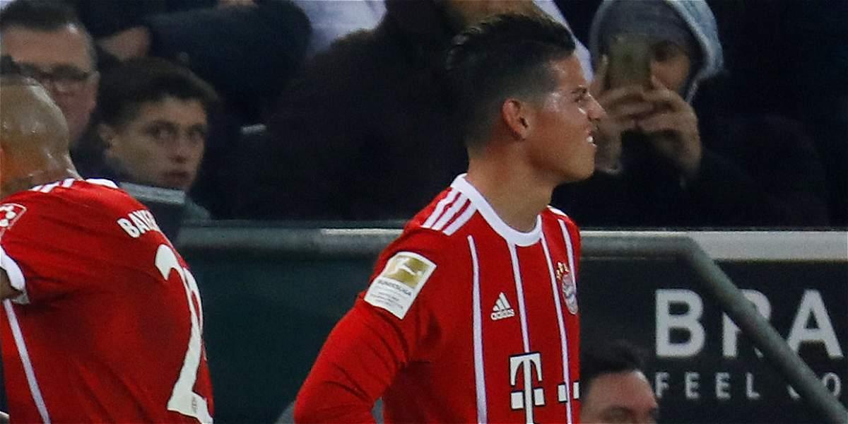 James Rodríguez sufrió conmoción cerebral y estará eximido de entrenar