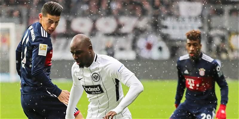 James, sacrificio y precisión en victoria de Bayern 0-1 a Frankfurt