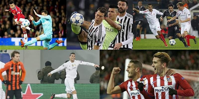 Las mejores fotografías de la jornada de Champions de este miércoles