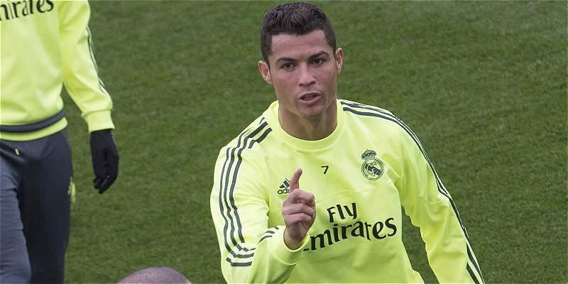 Cristiano Ronaldo entrenó con normalidad en el Real Madrid