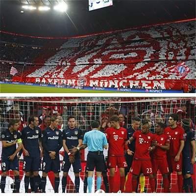 Bayern vs. Atlético collage