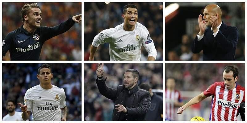 Real Madrid y Atlético números collage