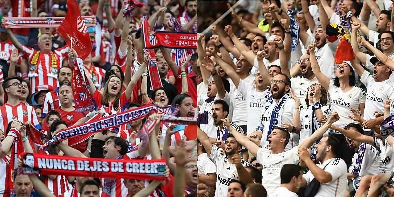 Hinchas de Real y Atlético se enfrentarán en aeropuerto de Madrid