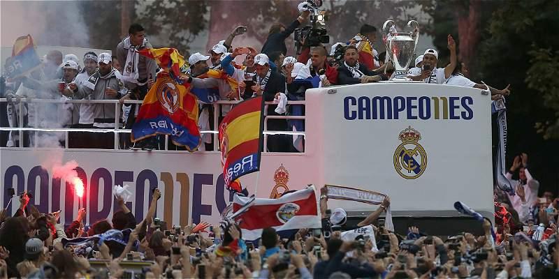 Así festejó el Real Madrid el título de la Champions en la Cibeles