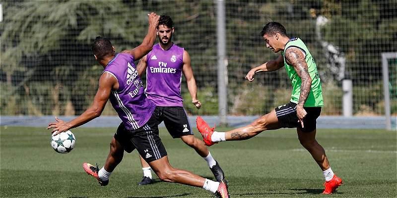 James, titular de Real Madrid para enfrentar a Borussia Dortmund