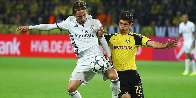 El Madrid no pudo conservar el resultado y terminó 2-2 con el Dortmund