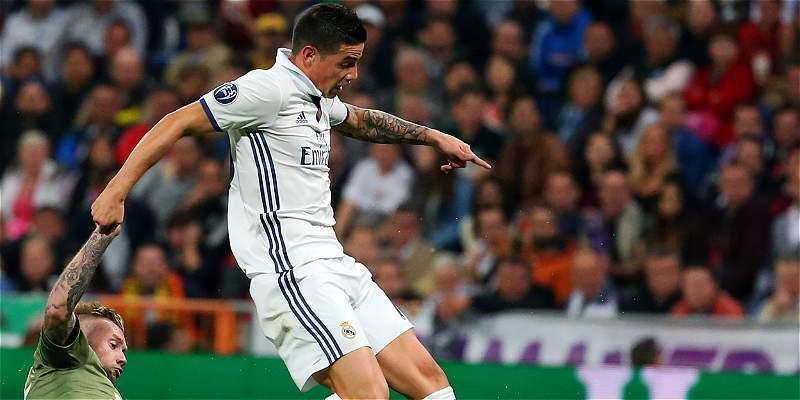 James Rodríguez en Champions: 63 minutos y una regular actuación