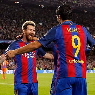 Lionel Messi Barcelona Champions