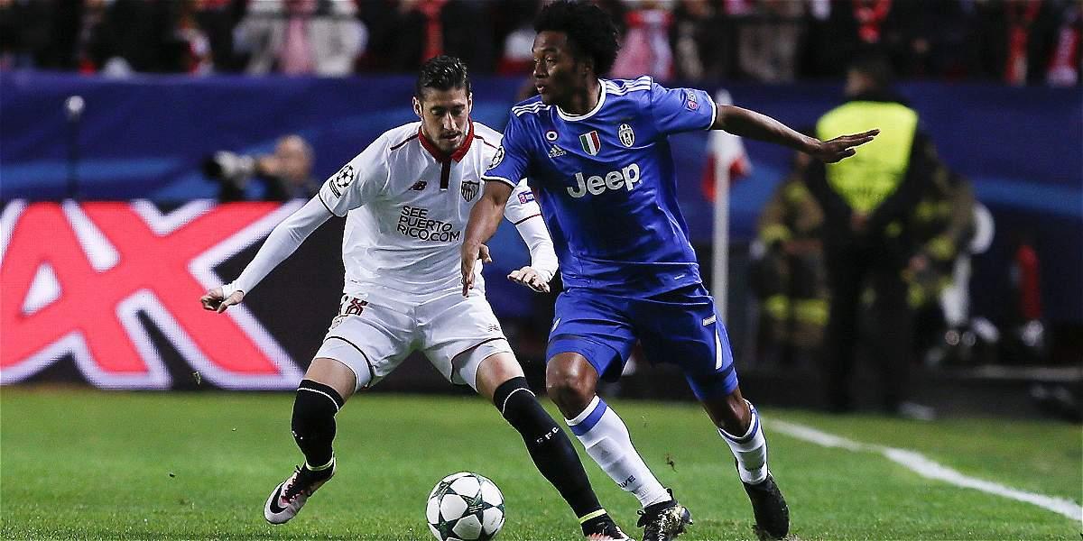 Cuadrado: 87 minutos en el triunfo 1-3 de Juventus sobre Sevilla