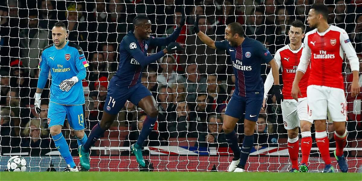 David Ospina: buenas atajadas en el 2-2 del Arsenal frente al PSG