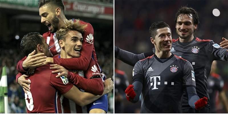 Bayern intentará frenar la buena campaña del Atlético, en Champions
