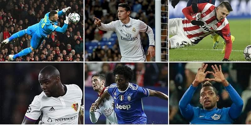 Así jugarán los colombianos que tendrán acción en la Champions