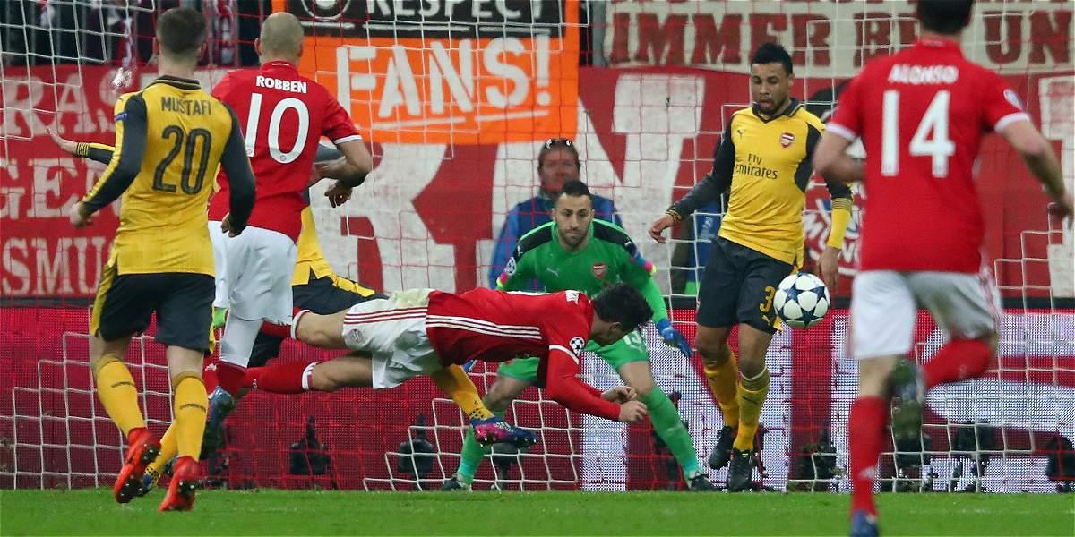 Bayern 'voló' y Ospina lo sufrió: goleada 5-1 al Arsenal en Champions