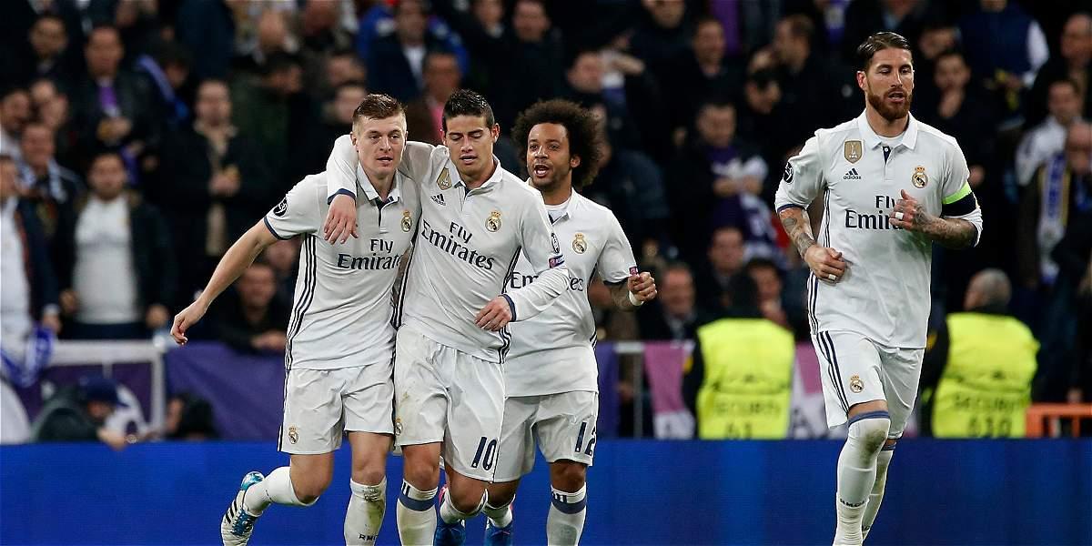 Real Madrid, que tuvo a James 76 minutos, le ganó 3-1 a Nápoles