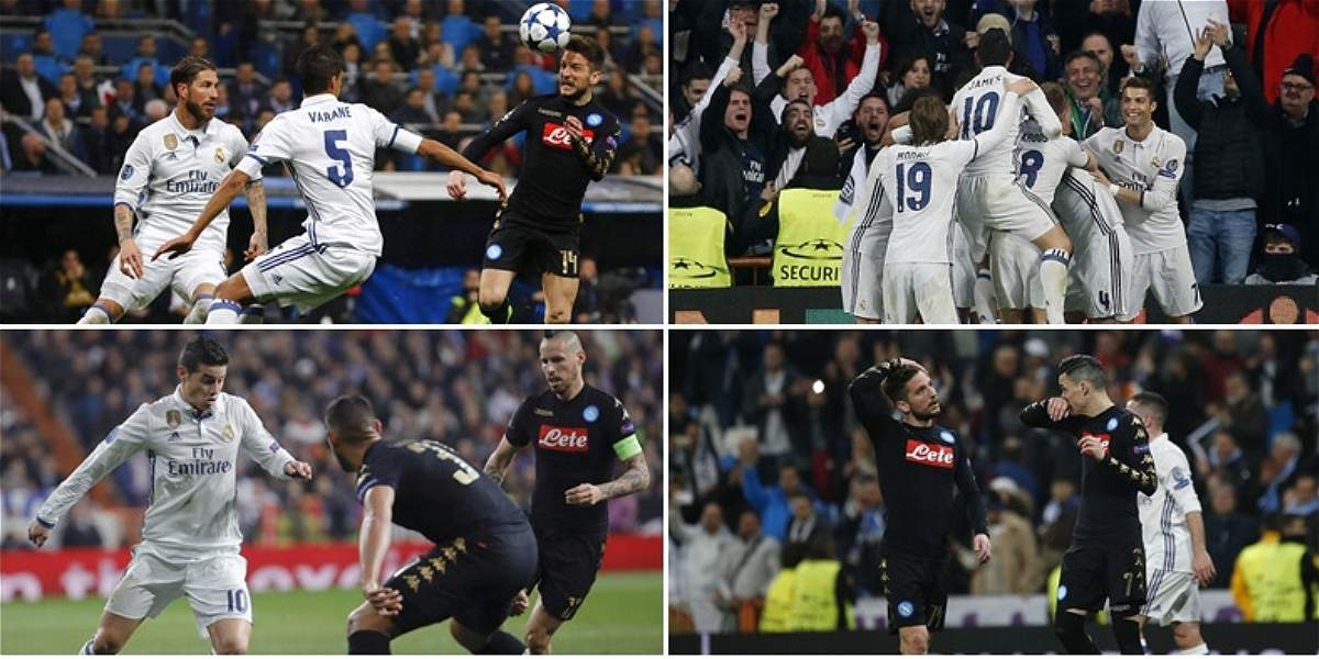 Las mejores fotos del duelo entre Real Madrid y Nápoles, en Champions
