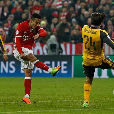 En fotos: la goleada del Bayern Múnich sobre Arsenal, en Champions