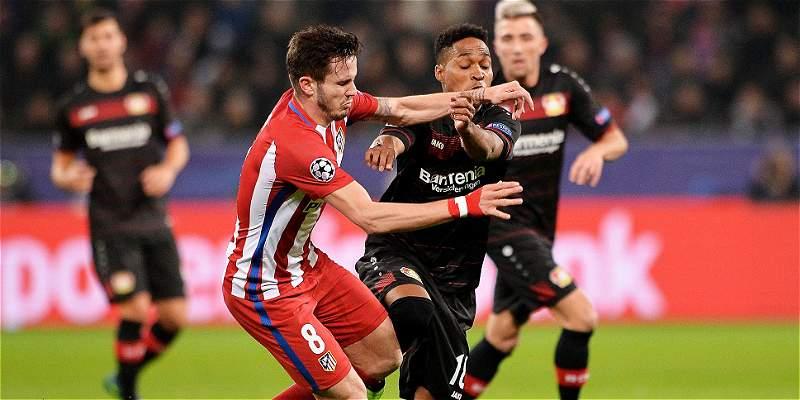 Leverkusen cayó 2-4 de local contra Atlético en octavos de Champions