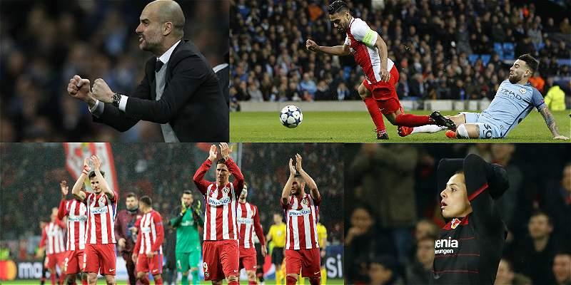 Las mejores fotos de una jornada con récord goleador en Champions