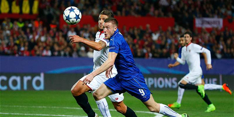 Sevilla sacó un resultado corto contra Leicester: lo venció 2-1