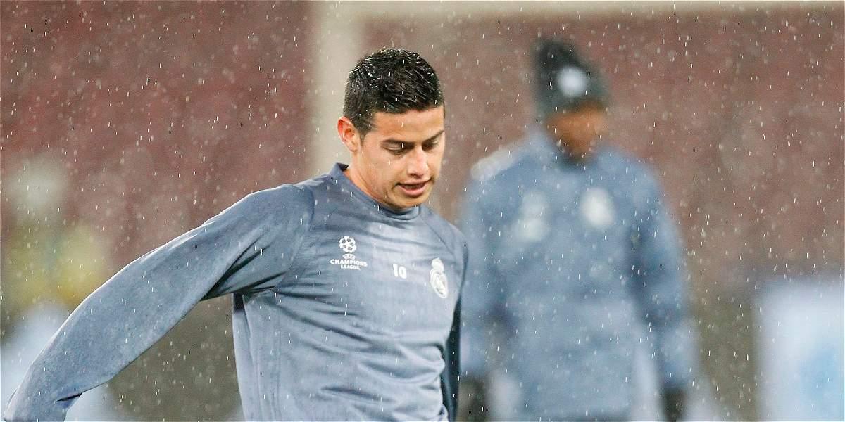 James Rodríguez será suplente de Real Madrid, frente a Bayern Múnich