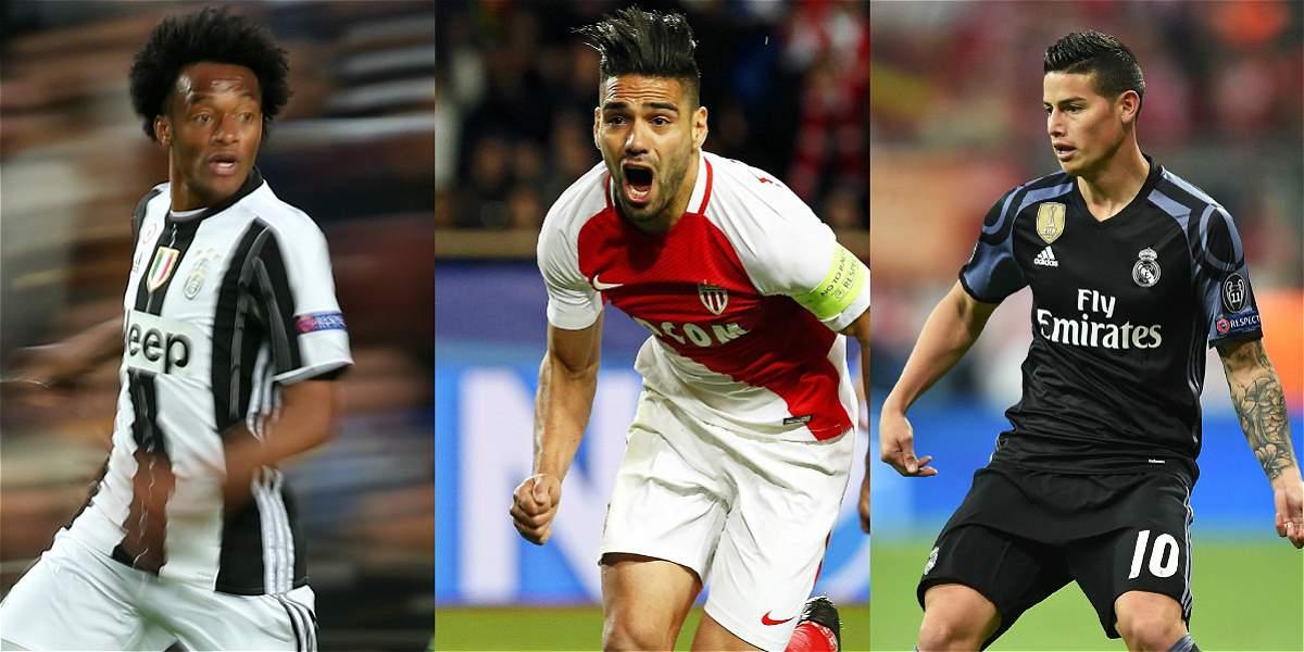 ¡Histórico! Tres colombianos en semifinales de Champions