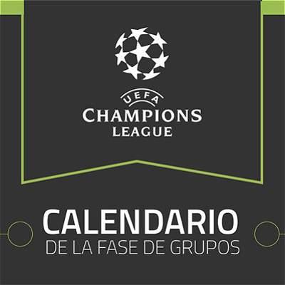 Este es el calendario de la fase de grupos de la Champions 2017-2018