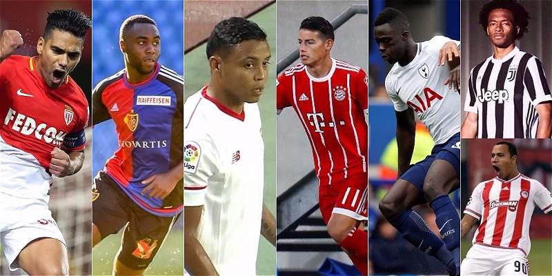 Siga la agenda y los datos de los colombianos en la Champions League
