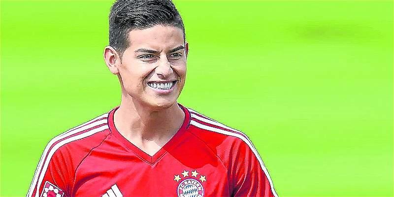 ¡Confirmado!, James titular con Bayern Múnich en Champions