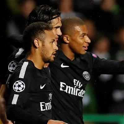 PSG venció 0-5 a Celtic en Champions: apareció con todo la 'MCN'