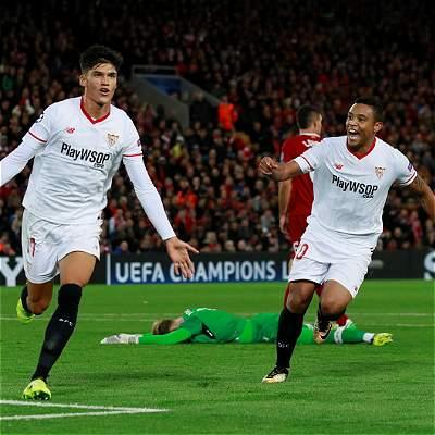 Con asistencia de Muriel, Sevilla empató de visita 2-2 con Liverpool