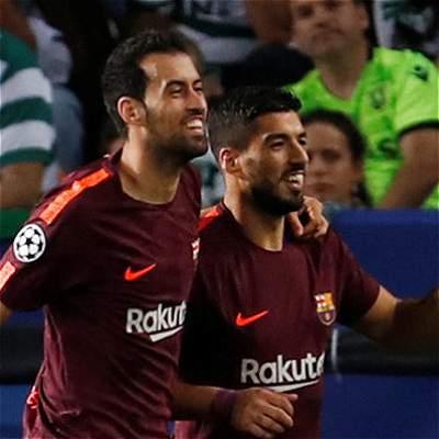 Barcelona contó con la mala suerte de Sporting: 0-1 con un autogol