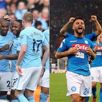 Man. City vs. Nápoles: los líderes de las ligas se cruzan en Champions