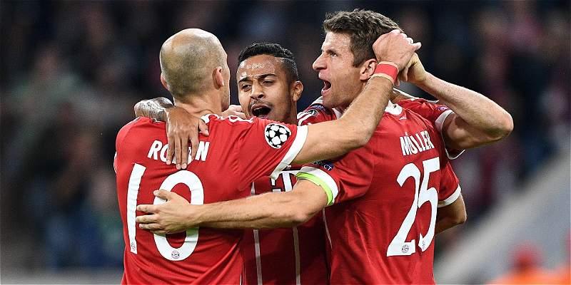 Bayern Múnich goleó 3-0 a Celtic y James Rodríguez jugó 12 minutos