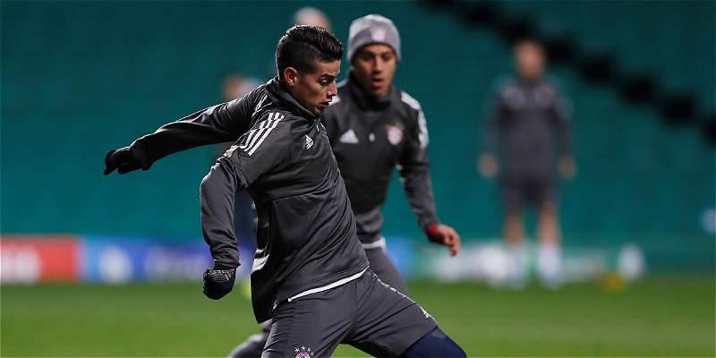 Bayern visita a Celtic con James pero sin los goles de Lewandowski