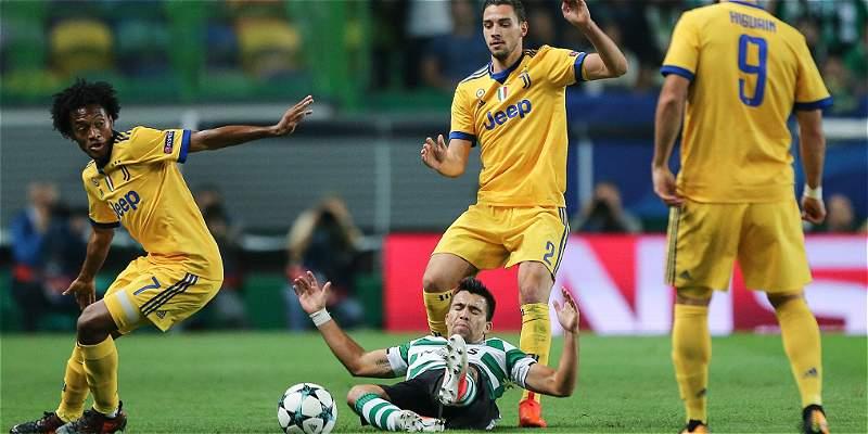 Con pase gol de Cuadrado, Juventus empató 1-1 en su visita al Sporting