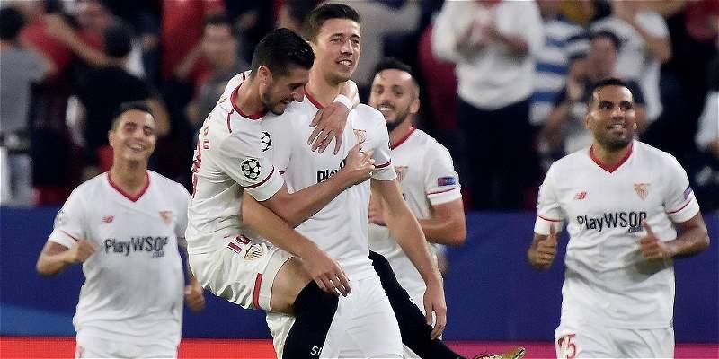 No hubo minutos para Muriel en el triunfo de Sevilla 2-0 sobre Spartak