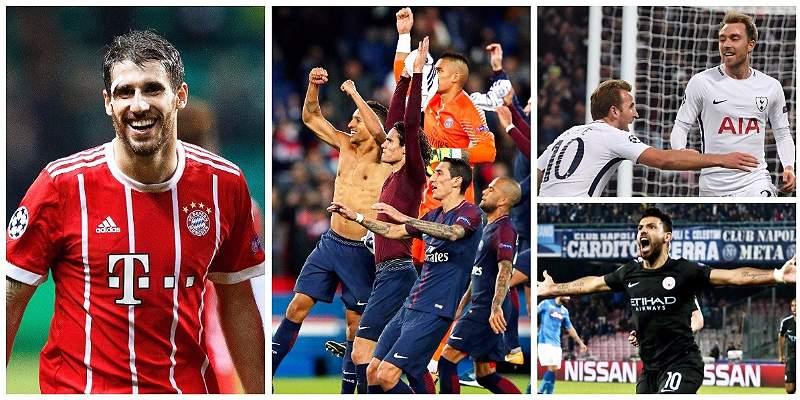 Estos son los equipos clasificados y los eliminados en Champions
