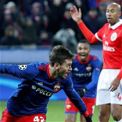 CSKA Moscú venció 2-0 a Benfica y sueña con clasificar en la Champions