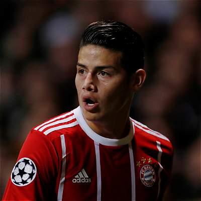 James: 46 minutos y buen papel en triunfo de Bayern 1-2 al Anderlecht