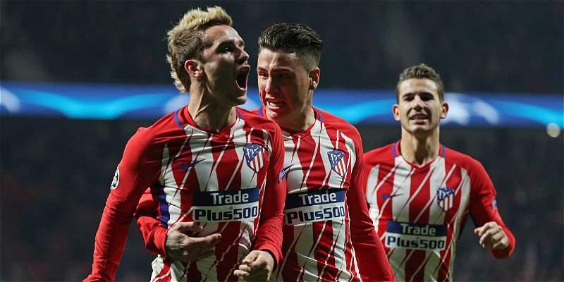 Atlético de Madrid sigue con vida en Champions: victoria 2-0 a la Roma