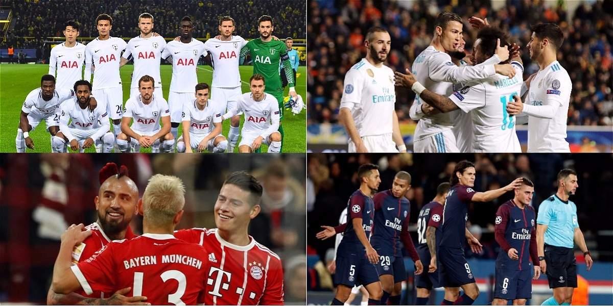 Estos equipos ya clasificaron a los octavos de final de la Champions