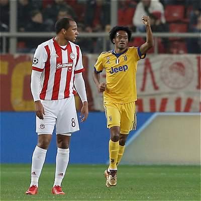 Cuadrado marcó gol en triunfo 0-2 de Juventus sobre el Olympiacos