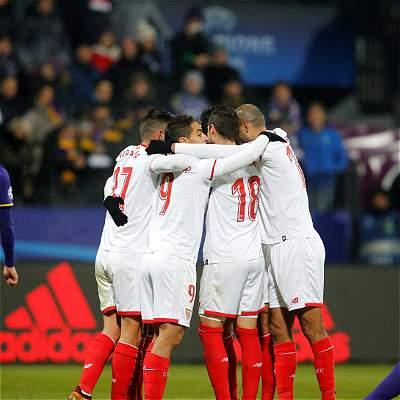El Sevilla de Muriel empató 1-1 contra Maribor y avanzó en Champions