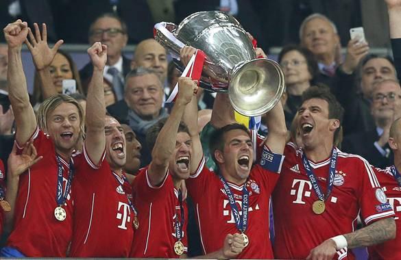 Resultado de imagen para Liga de Campeones en 2013 con el Bayern
